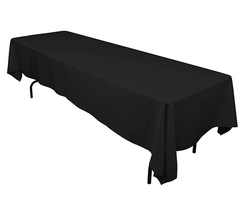 rectanguler black linen