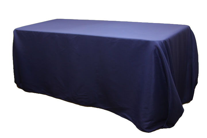 rectanguler navy linen