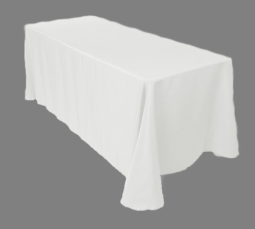 rectanguler white linen